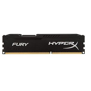 Kingston® - Mémoire informatique Hx318C10FB/4 Hyperx FURY 4 Go 1866MHz DDR3 CL10 DIMM 240 broches, noir