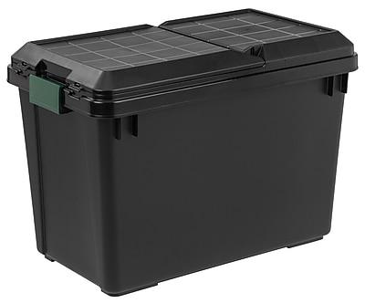 Remington® 102 Quart Store-It-All Tote, Black, 4 Pack (296065)