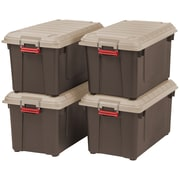 IRIS® USA, Inc. 87 Quart Weathertight Heavy Duty Tote, Brown, 4 Pack (250183)