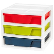 IRIS® 3-Drawer Activity Chest with Organizer Top, 2 Pack (150315)