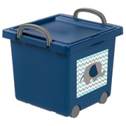 IRIS® Toy Storage Box, Blue, 4 Pack (102783)