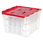 IRIS® Holiday Ornament Storage Box, Red, 6 Pack (139611)