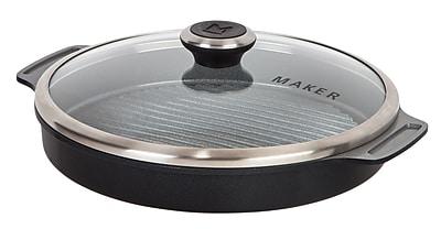 MAKER Homeware Round Steam Grill Pan, Black (592005)