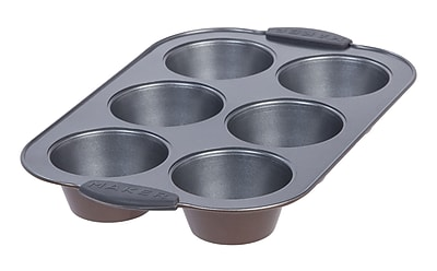 MAKER Homeware 6 Cup Jumbo Muffin Pan (591958)
