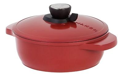 MAKER Homeware 2 Quart SmartSteam™ Shallow Cookware, Red