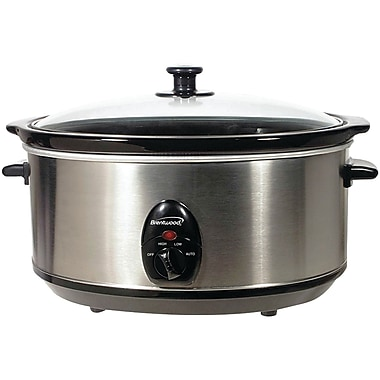 Brentwood 6.5-Quart Stainless Steel Slow Cooker (BTWSC150S)