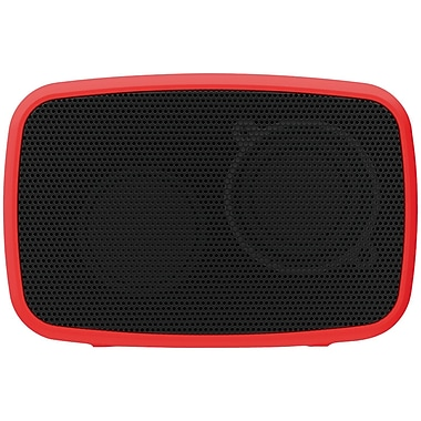 Ematic Esq206rd Rugged Life Noize Bluetooth Speaker, Red