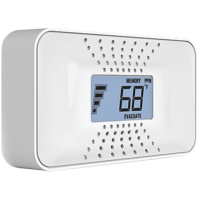 First Alert Carbon Monoxide Alarm With Temperature, Digital Display & 10-year Sealed Battery