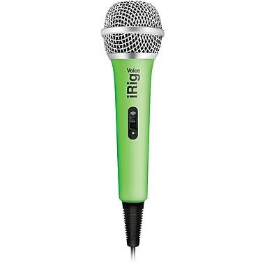 IK Multimedia iRig Voice Karaoke Microphone, Green (IKMIRIGMICVOG)