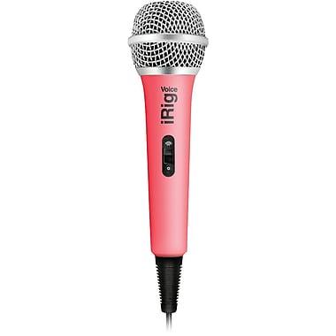 IK Multimedia – Microphone de karaoké iRig Voice, rose (IKMIRIGMICVOP)