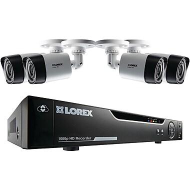 Lorex by Flir – Magnétoscope numérique 3 à 4 canaux HD 1080p MPX, 4 cam. IR résistantes aux intempéries 1080p (LORLHVTC210414)