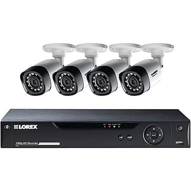 Lorex By Flir 8-Channel 1080p HD Mpx DVR With 4 1080p Weatherproof IR Cameras (LORLHV21081TC4)