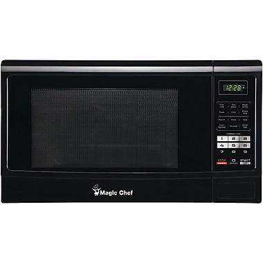 Magic Chef 1.6 Cubic ft Countertop Microwave, Black (MCPMCM1611B)