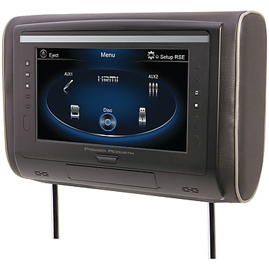 Power Acoustik LCD Universal Headrest With IR And FM Transmitters And 3 Interchangeable Skins (POWHDVD94)