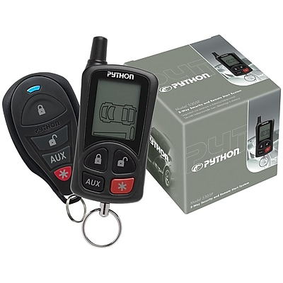 Python 2-way LCD Security & Remote-start System With .25-mile Range & 2 Remotes