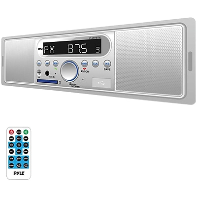 Pyle Plmr7btw Marine Single-din Mechless Marine Am/fm Receiver With Built-in Speakers & Bluetooth®
