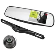 Pyle HD Rearview Mirror Monitor & Dual Camera System With Built-in Distance Scale Lines & Parking Assist