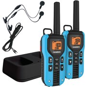 Uniden 40-mile 2-way FRS/GMRS Radios With Headsets (blue; NiMH Batteries)