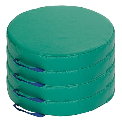ECR4kids Softzone Foam Floor Cushions, Green (ELR-12643-GN)