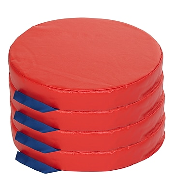 ECR4kids SoftZone Foam Floor Cushions, Red (ELR-12643-RD)