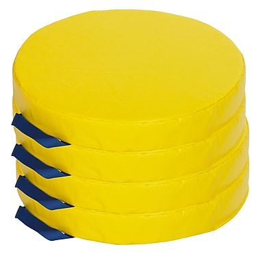 ECR4kids Softzone Foam Floor Cushions, Yellow (ELR-12643-YE)
