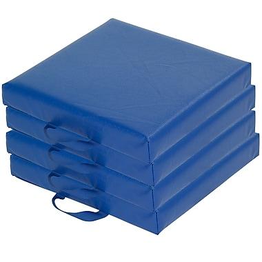 ECR4kids SoftZone Foam Floor Cushions, Blue (ELR-12644-BL)