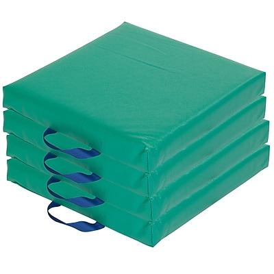 ECR4kids Softzone Foam Floor Cushions, Green (ELR-12644-GN)