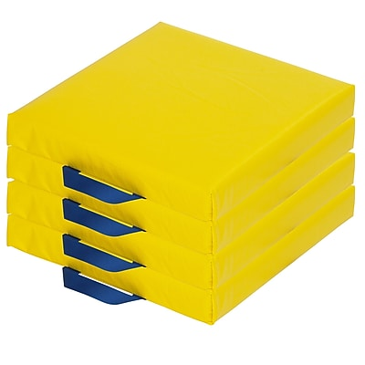 ECR4kids Softzone Foam Floor Cushions, Yellow (ELR-12644-YE)