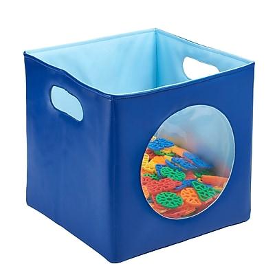 ECR4Kids SoftZone® Peek-A-Boo Bin - Blue (ELR-12673-BL)