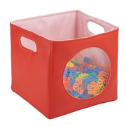 ECR4Kids SoftZone® Peek-A-Boo Bin, 2 Piece - Red (ELR-12673-RD)