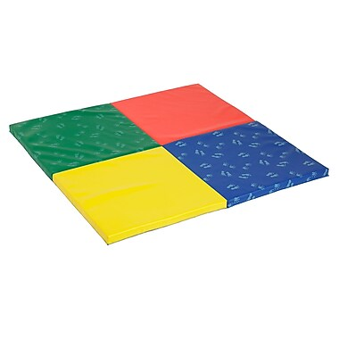 ECR4Kids SoftZone® Hands & Feet Play Mat, 4-Fold (ELR-12675)