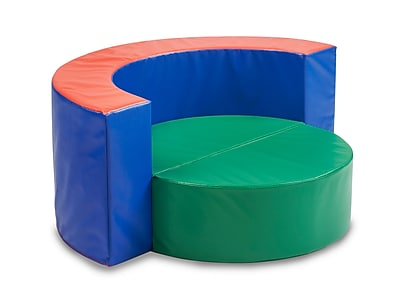 ECR4kids Softzone Foam Floor Cushions, Green/Blue (ELR-12679)