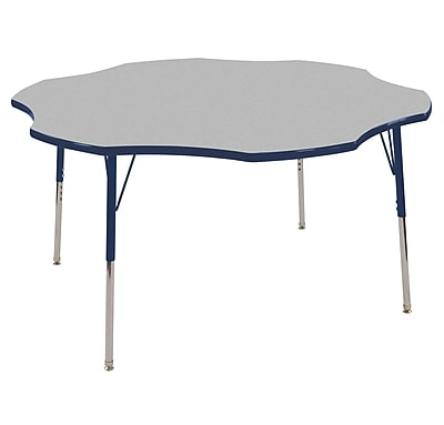 ECR4kids Standard Swivel Glide 48'' Clover Table, Grey/Navy (ELR14101GNVSS)