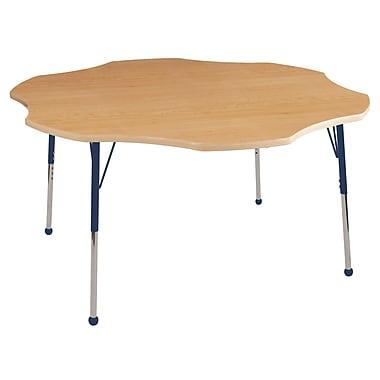 ECR4kids Toddler BG 60'' Flower Table, Maple/Maple/Navy (ELR14102MMNVTB)