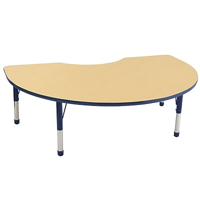 ECR4Kids T-Mold Kidney Table Maple/Navy -Chunky Legs (ELR-14104-MNV-C)