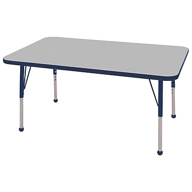 "30""x48"" Rectangular T-Mold Activity Table, Grey/Navy/Standard Ball"