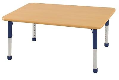 "30""x48"" Rectangular T-Mold Activity Table, Maple/Maple/Navy/Chunky"