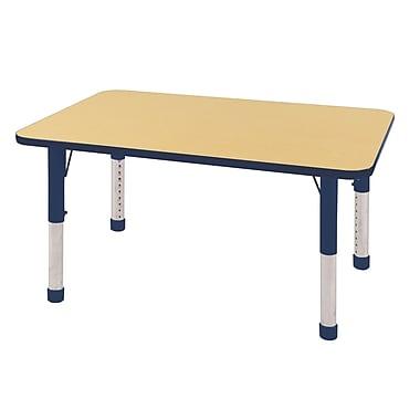 "30""x48"" Rectangular T-Mold Activity Table, Maple/Navy/Chunky"
