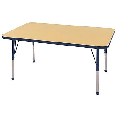 "30""x48"" Rectangular T-Mold Activity Table, Maple/Navy/Standard Ball"