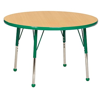 """36"""" Round T-Mold Activity Table, Maple/Green/Standard Ball"""