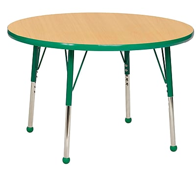 "36"" Round T-Mold Activity Table, Maple/Green/Standard Ball"