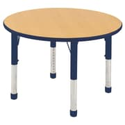 "36"" Round T-Mold Activity Table, Maple/Navy/Chunky"