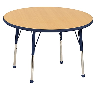 "36"" Round T-Mold Activity Table, Maple/Navy/Toddler Ball"