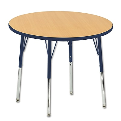 "36"" Round T-Mold Activity Table, Maple/Navy/Toddler Swivel"