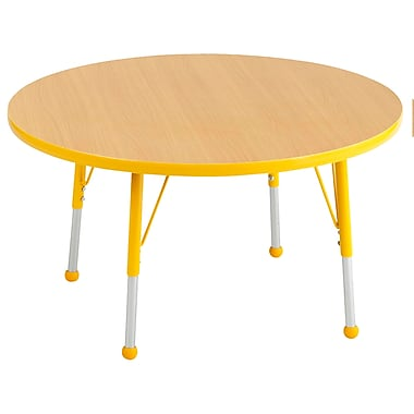 """36"""" Round T-Mold Activity Table, Maple/Yellow/Standard Ball"""