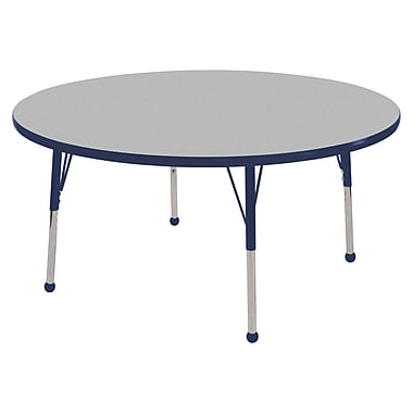 """48"""" Round T-Mold Activity Table, Grey/Navy/Standard Ball"""