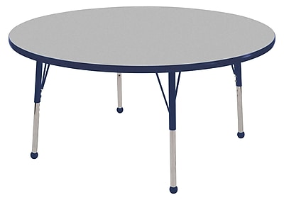 48� Round T-Mold Activity Table, Grey/Navy/Standard Ball