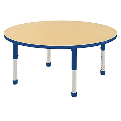 "48"" Round T-Mold Activity Table, Maple/Blue/Chunky"