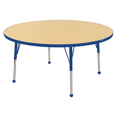 "48"" Round T-Mold Activity Table, Maple/Blue/Standard Ball"