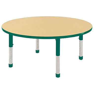 "48"" Round T-Mold Activity Table, Maple/Green/Chunky"